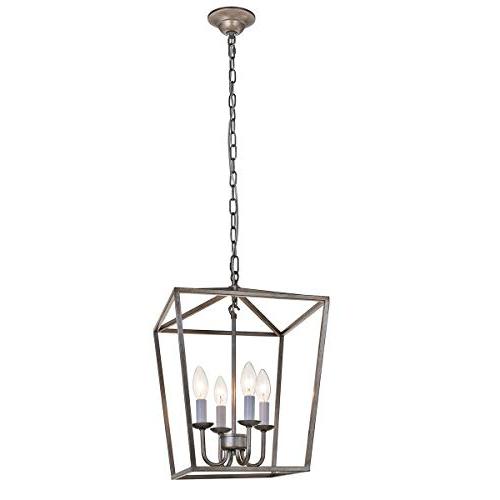 Well Known Taya 4 Light Lantern Square Pendants With Regard To Lantern Pendant Light: Amazon (View 28 of 30)