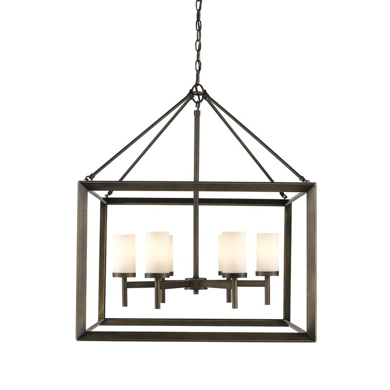 Well Known Thorne 4 Light Lantern Rectangle Pendants Within Thorne 6 Light Lantern Square / Rectangle Pendant (View 29 of 30)