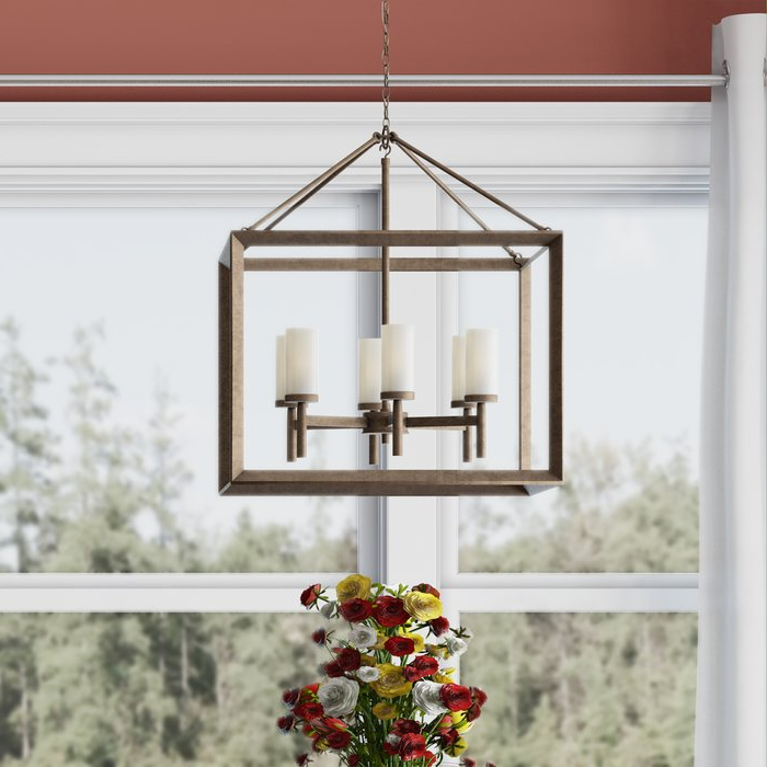 Well Known Thorne 6 Light Lantern Square / Rectangle Pendant With Thorne 6 Light Lantern Square / Rectangle Pendants (Gallery 4 of 30)