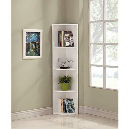 Well Known Vas Corner Bookcases Regarding White Corner Bookcases: Amazon (View 4 of 20)