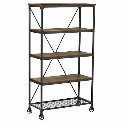 Well Known Woodcrest Etagere Bookcases Within Williston Forge Cable Etagere Bookcase  (View 14 of 20)