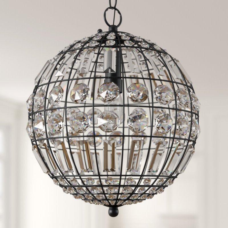 Well Liked Alden 3 Light Single Globe Pendants Inside Elivra 1 Light Single Globe Pendant (View 29 of 30)