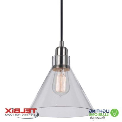 Well Liked Alden 3 Light Single Globe Pendants With Regard To Clear Telbix Alden Single Glass Pendant Light (View 30 of 30)