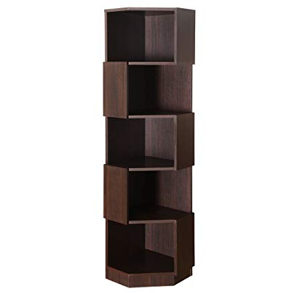 Well Liked Amazon: 247shopathome Ynj 1403 5 Earlene Bookshelf With Regard To Earline Etagere Bookcases (View 18 of 20)