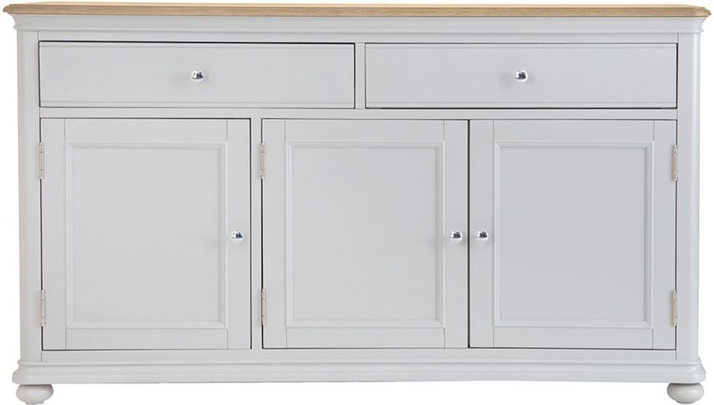Well Liked Annecy Large Sideboard – Oak And Soft Grey Painted In Annecy Sideboards (View 19 of 20)