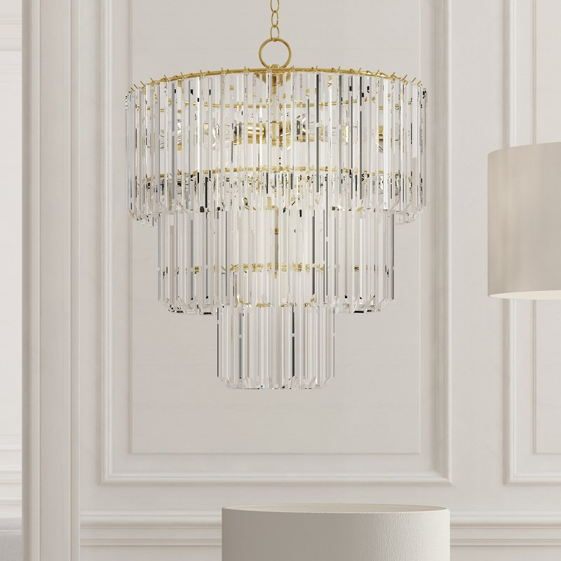 Well Liked Benedetto 5 Light Crystal Chandeliers With Grisella 9 Light Crystal Chandelier (Gallery 8 of 30)