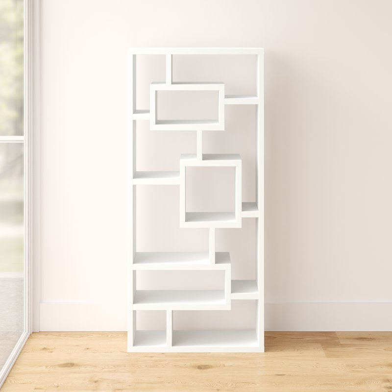 Well Liked Bostic Geometric Bookcases Pertaining To Cleisthenes Geometric Bookcase (View 19 of 20)