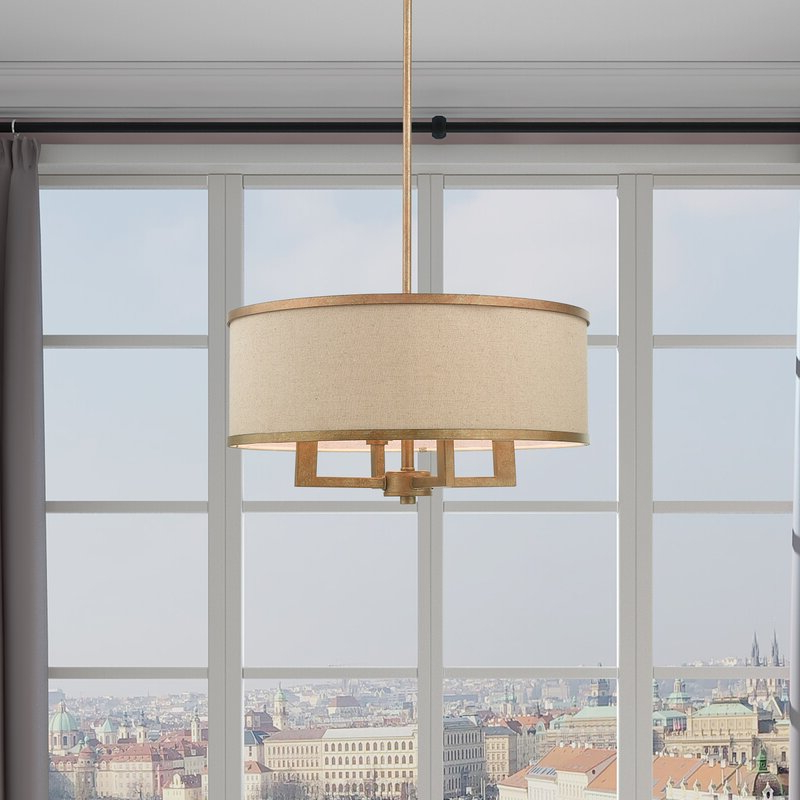 Well Liked Breithaup 4 Light Drum Chandelier With Breithaup 4 Light Drum Chandeliers (View 7 of 30)
