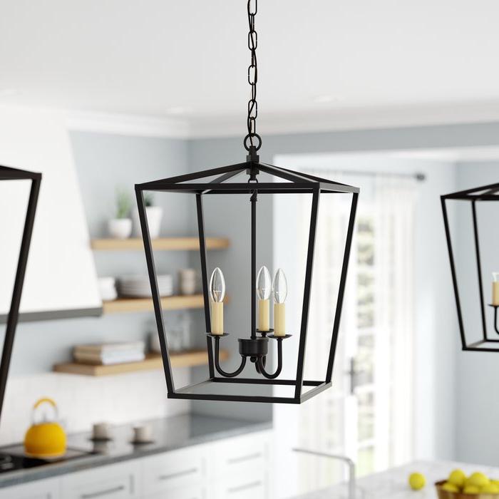 Well Liked Finnick 3 Light Lantern Pendant Intended For Finnick 4 Light Foyer Pendants (View 29 of 30)