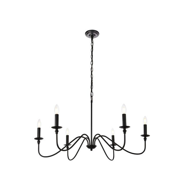 Well Liked Hamza 6 Light Candle Style Chandelier (View 30 of 30)