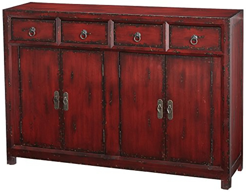 Well Liked Hooker Furniture 500 50 711 58'' Red Asian Cabinet, Hand Painted Rich Inside Seven Seas Asian Sideboards (View 4 of 20)