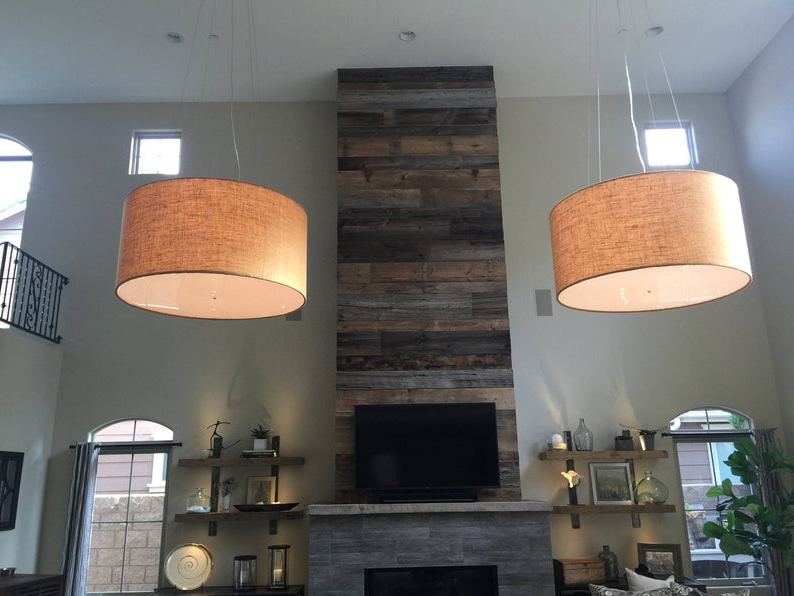 Well Liked Jill 4 Light Drum Chandeliers With Regard To Custom 48 Inch Extra Large Drum Pendant Light Fixture (View 21 of 30)