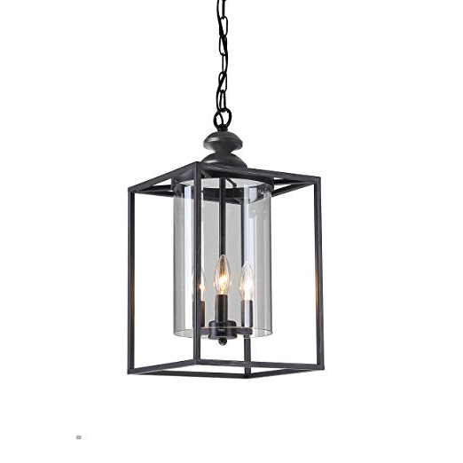 Well Liked La Barge 3 Light Globe Chandeliers Pertaining To Jojospring La Pedriza Antique Black 3 Light Glass And Metal Chandelier (View 11 of 30)