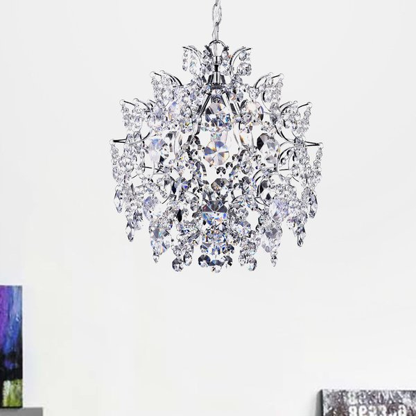 Well Liked Nolan 3 Light Crystal Chandelier With Regard To Clea 3 Light Crystal Chandeliers (View 4 of 30)