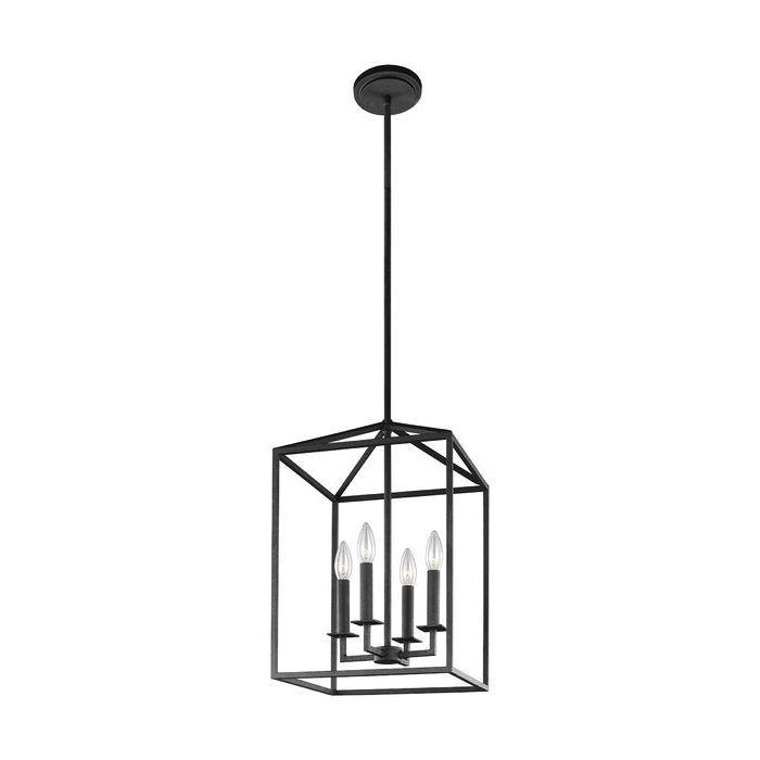 Well Liked Odie 4 Light Lantern Square Pendants In Odie 4 Light Lantern Square Pendant (View 29 of 30)