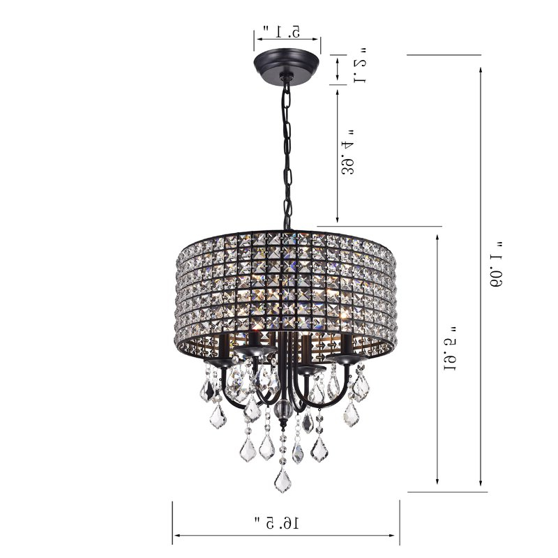 Well Liked Sinead 4 Light Chandeliers With Albano 4 Light Crystal Chandelier (Gallery 13 of 30)