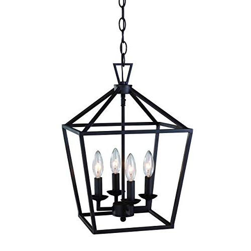 Well Liked Taya 4 Light Lantern Square Pendants Intended For Lantern Pendant Light: Amazon (Gallery 16 of 30)
