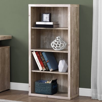 Well Liked Union Rustic Schuster Standard Bookcase Color: Taupe In 2019 Within Kayli Standard Bookcases (View 16 of 20)