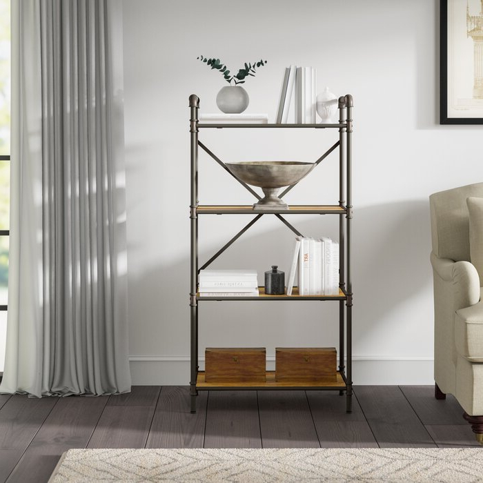 Whidden Etagere Bookcases Throughout Preferred Christofor Industrial Etagere Bookcase (View 18 of 20)