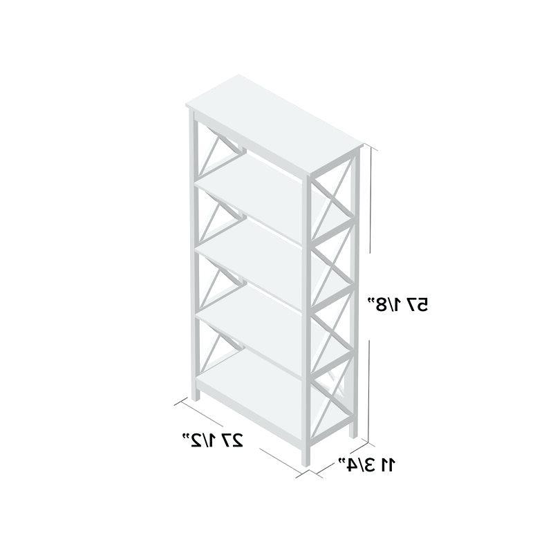 White Etagere Bookcase – Sustainocean (View 19 of 20)