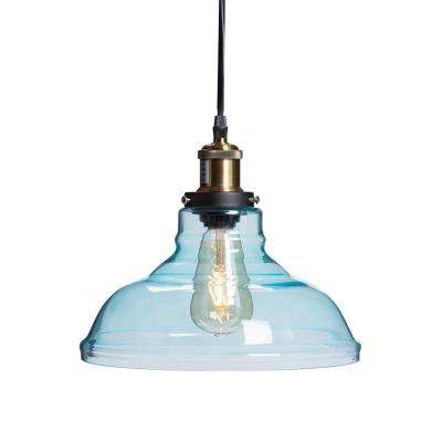 Whitten 4 Light Crystal Chandeliers Inside Trendy Witten 1 Light Soft Aqua Colored Glass Pendant Lamp Hd (View 14 of 30)