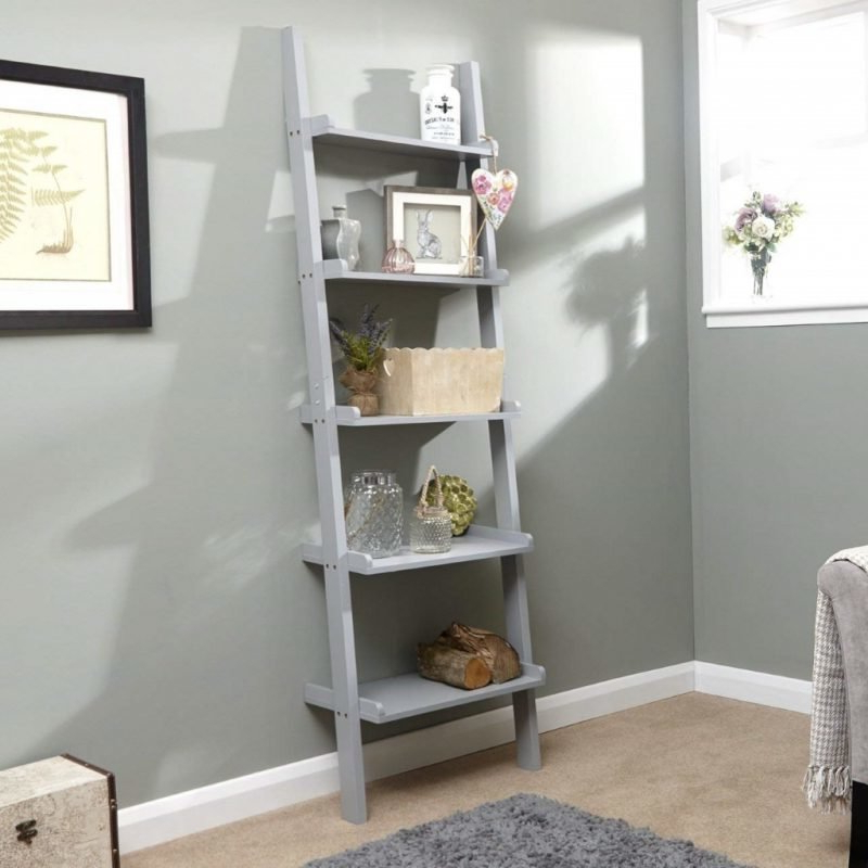 Wide Ladder Bookcases In Preferred Leaning Ladder Style Bookshelves – The Furniture Co (View 14 of 20)