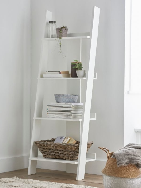 Wide Ladder Bookcases Regarding Most Up To Date Leaning Ladder Style Bookshelves – The Furniture Co (View 16 of 20)