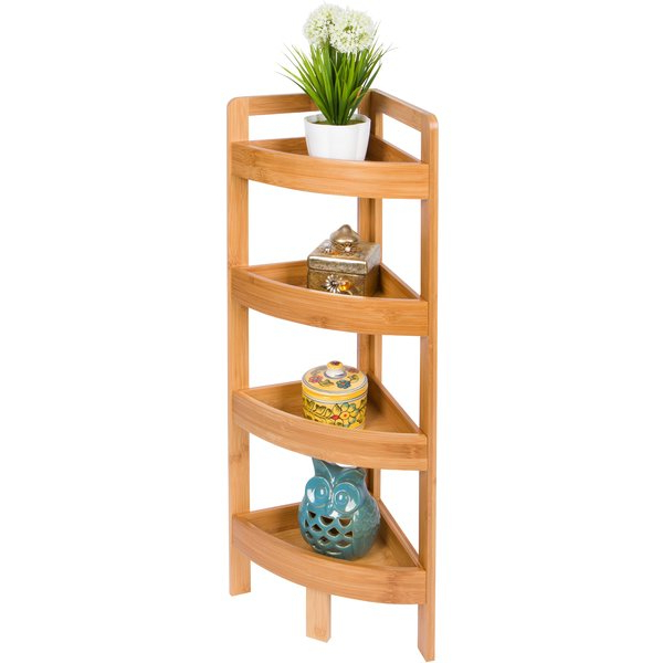 Widely Used 4 Tier Bamboo Storage Corner Unit Bookcaserebrilliant Intended For Chastain Storage Cube Unit Bookcases (View 20 of 20)