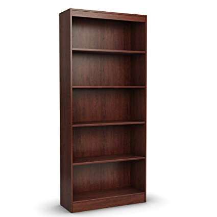 Widely Used Amazon: South Shore 5 Shelf Storage Bookcase, Royal Throughout Decorative Standard Bookcases (View 11 of 20)