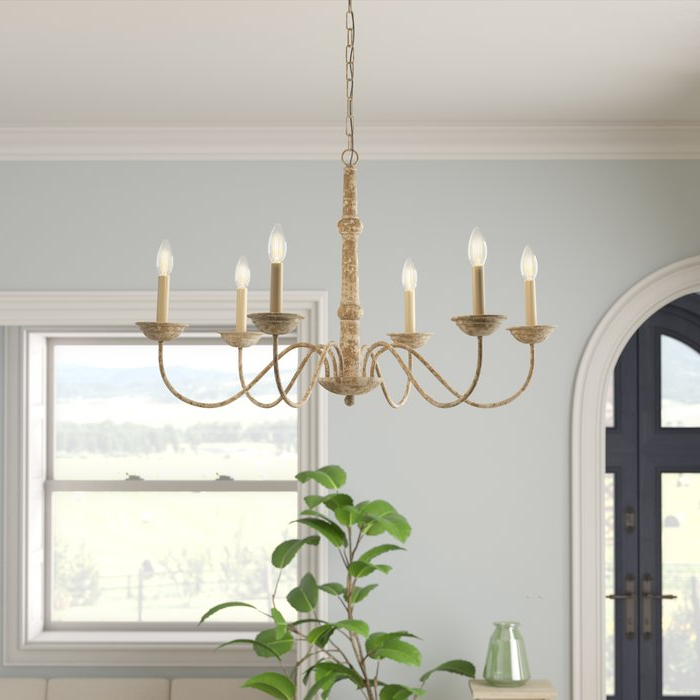 Widely Used Armande Candle Style Chandeliers Pertaining To Seneca 6 Light Candle Style Chandelier (View 30 of 30)