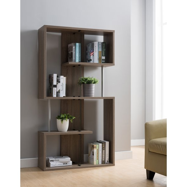 Widely Used Aveline Geometric Bookcaselatitude Run Purchase On Within Morrell Standard Bookcases (View 18 of 20)