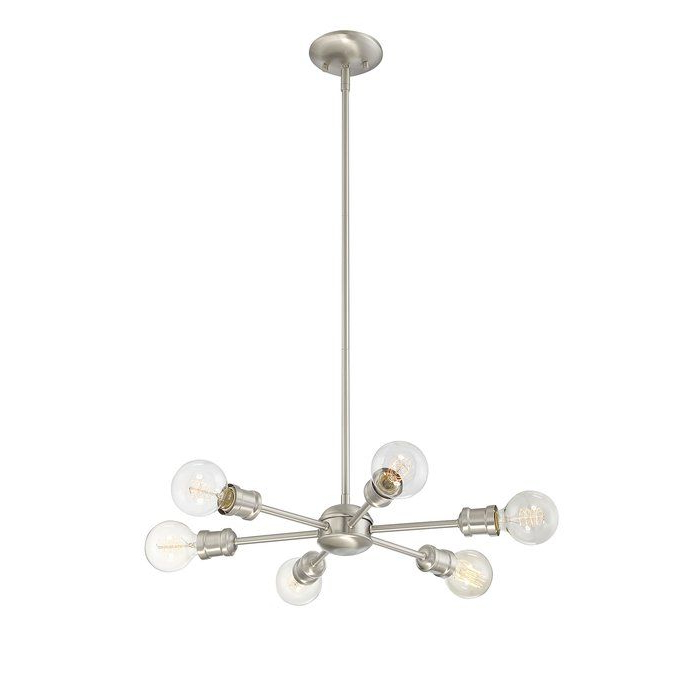Widely Used Bautista 6 Light Sputnik Chandelier (View 29 of 30)
