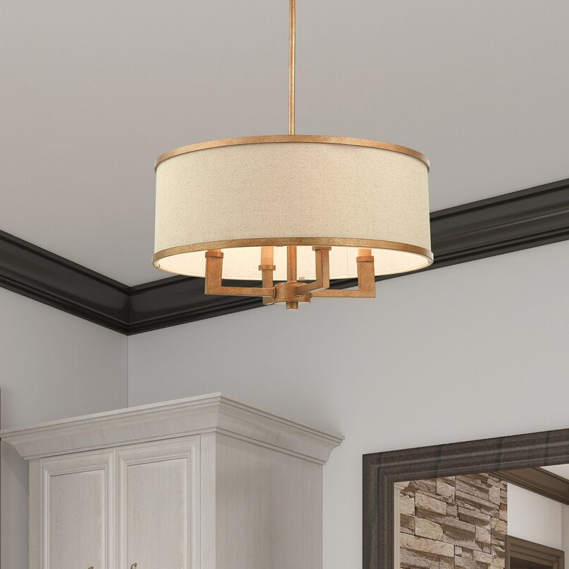 Widely Used Breithaup 4 Light Drum Chandeliers Intended For Breithaup 4 Light Drum Chandelier (View 6 of 30)