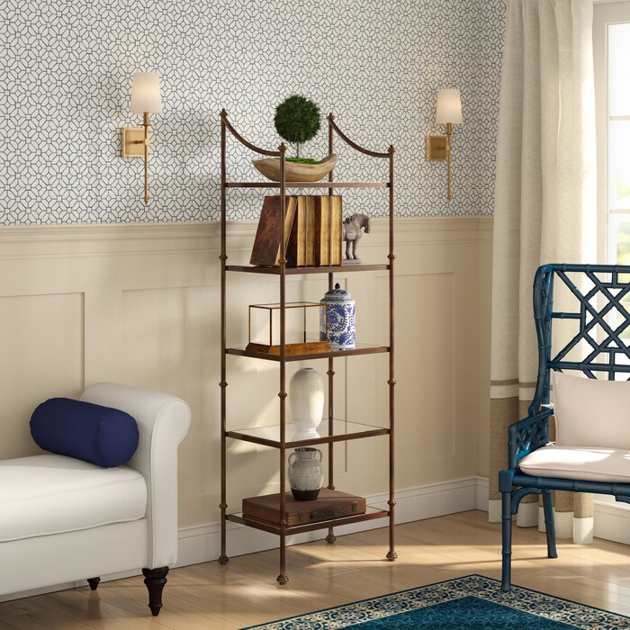 Widely Used Caldwell Etagere Bookcase Regarding Caldwell Etagere Bookcases (View 19 of 20)