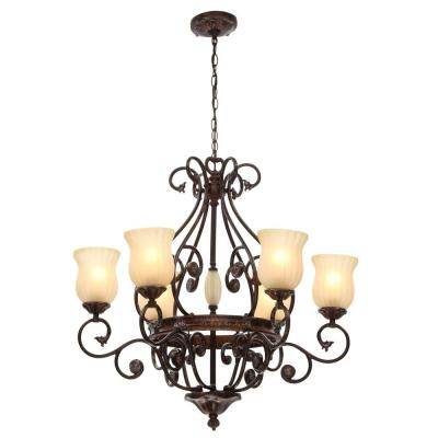 Widely Used Candle Style – Chandeliers – Lighting – The Home Depot For Aldora 4 Light Candle Style Chandeliers (View 16 of 30)