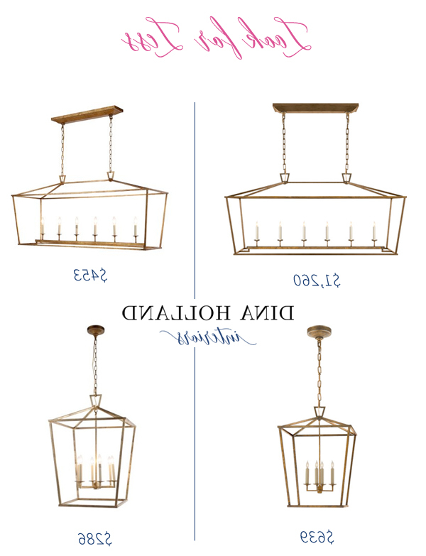 Widely Used Carmen 6 Light Lantern Geometric Pendants Intended For Look For Less: Darlana Pendant Knock Off Lookalike (View 25 of 30)
