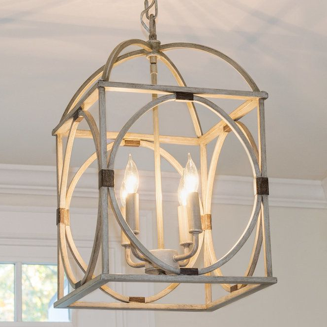 Widely Used Circle Lattice Hanging Lantern – 4 Light (Gallery 15 of 30)