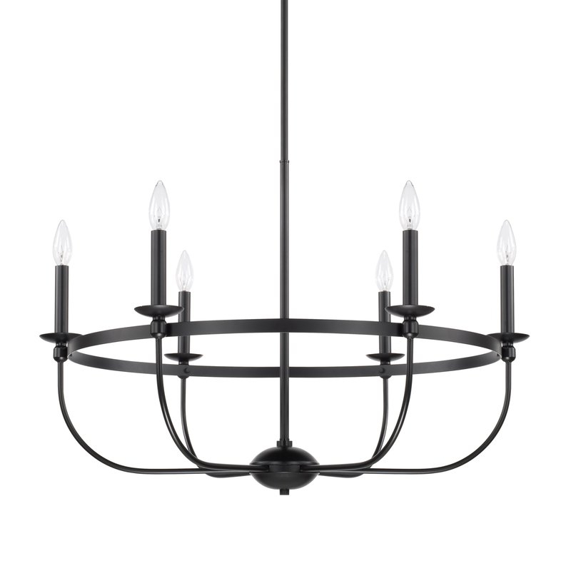 Widely Used Claughaun 6 Light Candle Style Chandelier In Shaylee 6 Light Candle Style Chandeliers (View 9 of 30)