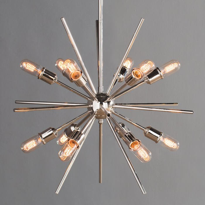 Widely Used Corona 12 Light Sputnik Chandelier Within Bacchus 12 Light Sputnik Chandeliers (View 9 of 30)