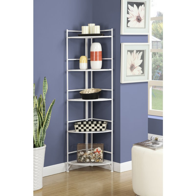 Widely Used D'aulizio Corner Unit Bookcase Intended For Emerson Corner Unit Bookcases (View 9 of 20)