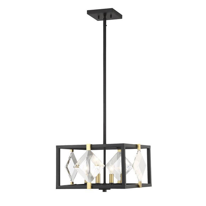 Widely Used Delon 4 Light Square Chandeliers Throughout Nowak 4 Light Square/rectangle Chandelier (View 30 of 30)