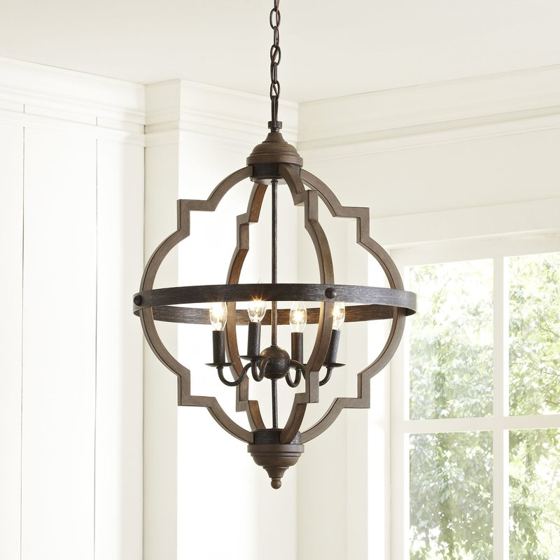 Widely Used Gaines 5 Light Shaded Chandeliers Inside Fixer Upper Lighting For Your Home – The Weathered Fox (View 21 of 30)