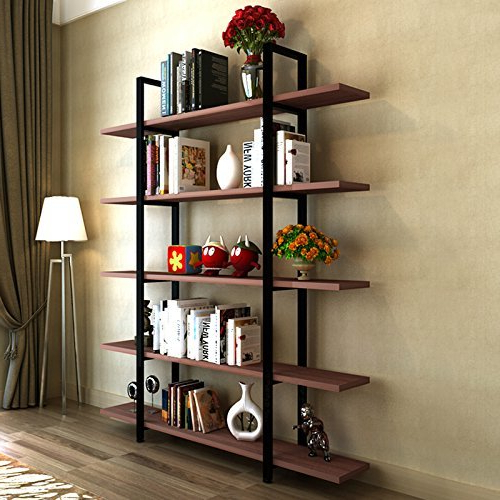 Widely Used Gracelynn 5 Tier Etagere Bookcases Intended For Williston Forge Melia Vintage Industrial Style 5 Tier (View 20 of 20)