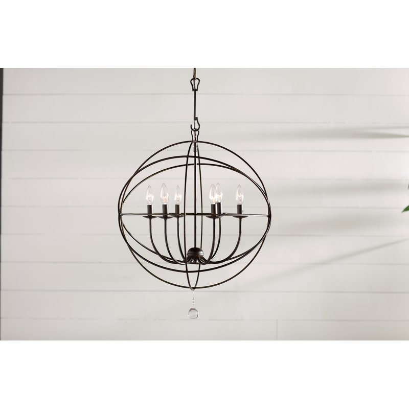 Widely Used Gregoire 6 Light Globe Chandeliers Within Gregoire 6 Light Globe Chandelier (View 30 of 30)