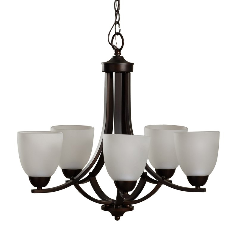 Widely Used Hayden 5 Light Shaded Chandeliers For Hayden 5 Light Shaded Chandelier (Gallery 2 of 30)