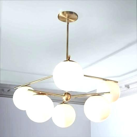 Widely Used La Barge 3 Light Globe Chandeliers Inside Globe Light Chandelier Fixture Sphere Stem 6 Brass White (View 19 of 30)