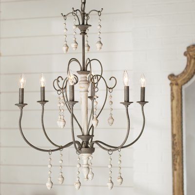 Widely Used Lark Manor Bouchette Traditional 6 Light Candle Style For Hamza 6 Light Candle Style Chandeliers (View 30 of 30)