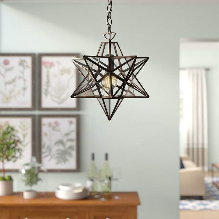 Widely Used Louanne 1 Light Lantern Geometric Pendants For Heritage Sture 1 Light Geometric Pendant (View 30 of 30)