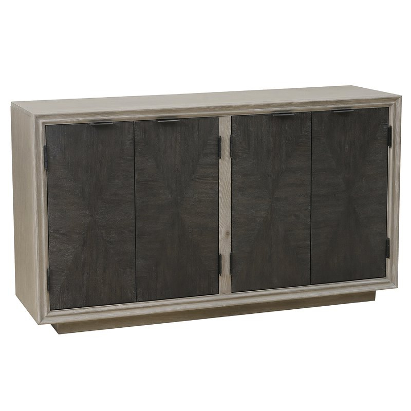 Widely Used Massillon Sideboards Regarding Hoover Four Door Duotone Parquet Sideboard (View 7 of 20)