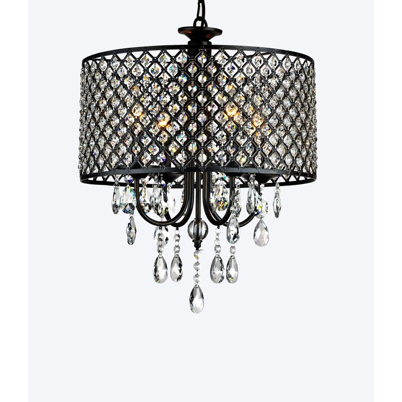 Widely Used Mckamey 4 Light Crystal Chandeliers In Mckamey Round 4 Light Crystal Chandelier (View 2 of 30)
